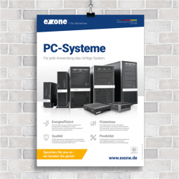 Plakat DIN A1 exone PC-Systeme 2021